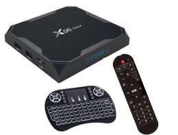 TV BOX X96 MAX 4/64GB ANDROID SMART TV +KLAWIATURA