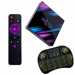 Smart TV BOX H96 MAX 4/64 GB Android + klawiatura I8 - TVBOXH96MAX